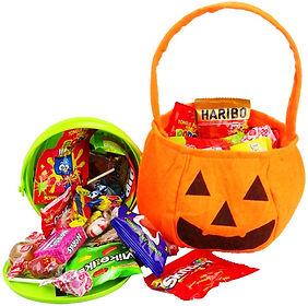 Pumkin/Jack o Lantern candy gift bag and gift bucket