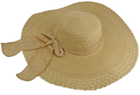 Sun Hats For Women, Wide Brim, Straw or Wool (Large, Brown)