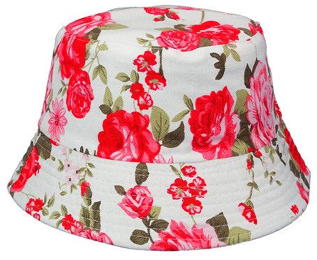 Women's Sun Bucket Hats (Medium, Carnations)