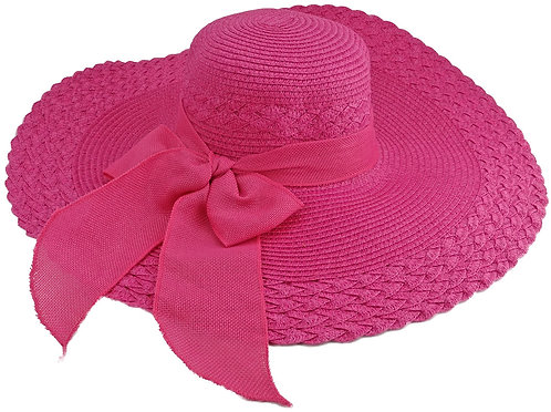 Sun Hats For Women, Wide Brim, Straw (Large, Pink)