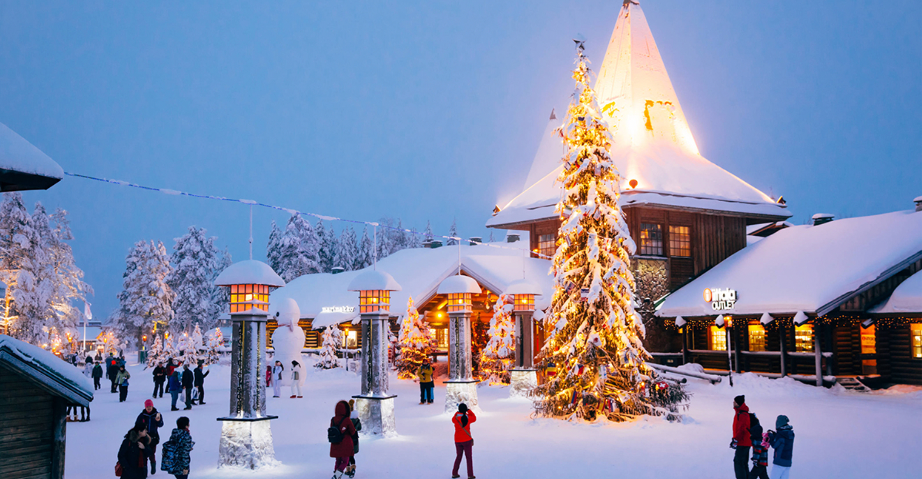 Go North to Finland to Find Santa, Ride in a Reindeer Sleigh and see the Aurora Borealis