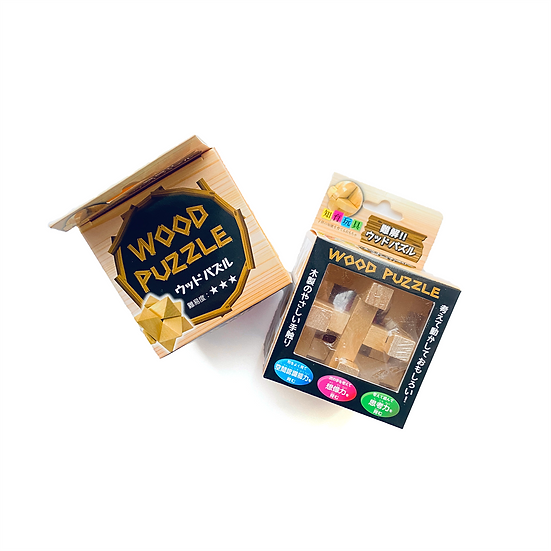 3D Wooden Puzzle Brain Teaser Gamex2 for Children Teens and Adults