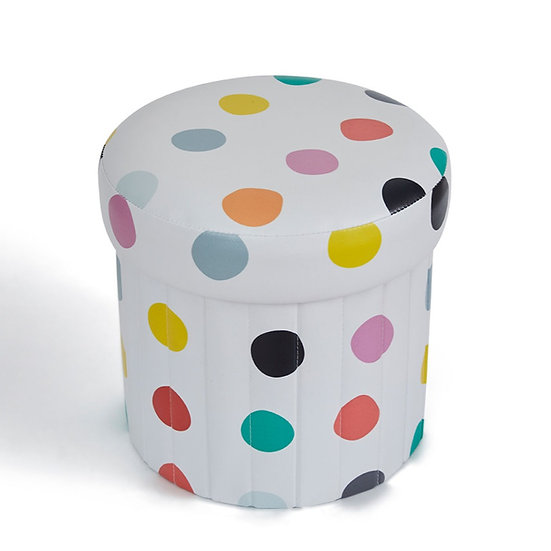 Meri Bubu® Children's Foldable Ottoman (Multicolour Dots)