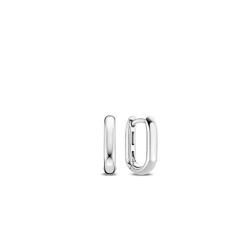 7845SI Ti Sento zilveren oorringen ovaal