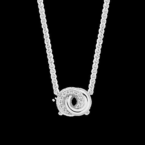3915ZI/42 Ti Sento collier infinity zilver zirconia