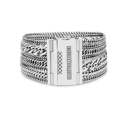 Multi Chain Nathalie Bracelet Silver of