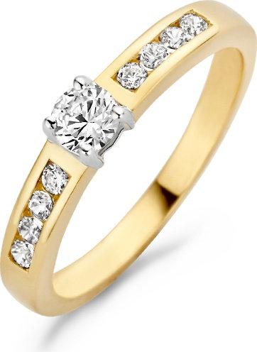 1125BZI Blush ring geelgoud zirconia