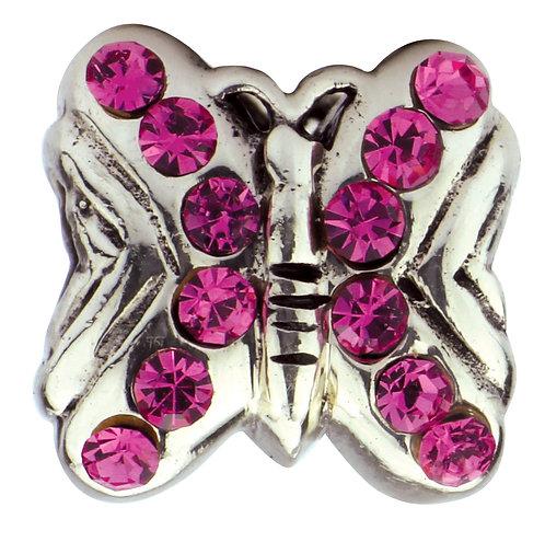 564405 Bellini zilveren zir bedel vlinder rose