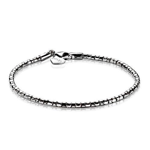 ZIA1129 ZINZI zilveren fantasie armband 19cm