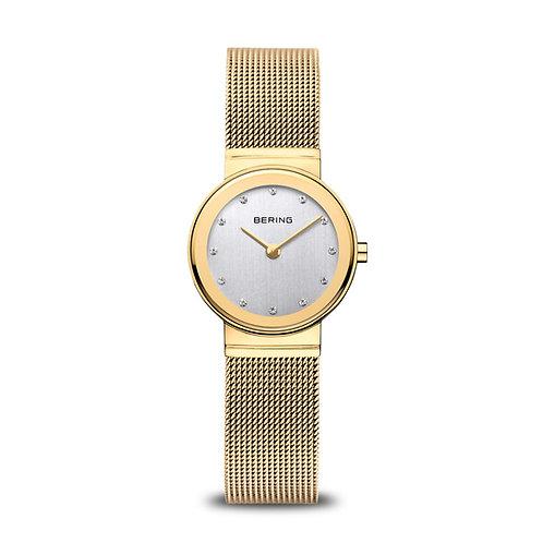 10126-334 Bering Classic dameshorloge goudkleurig saffierglas