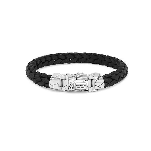 126BL Buddha to Buddha Mangky Small Leather Bracelet Black
