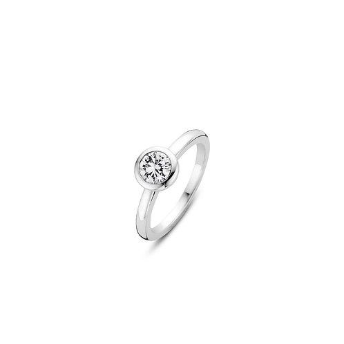 12103ZI Ti Sento zilveren ring met zirconia