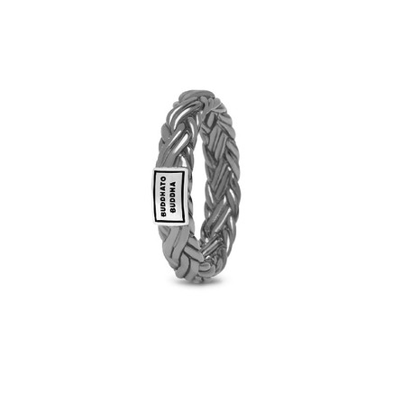 Katja XS Ring Black Rhodium Shine Silver