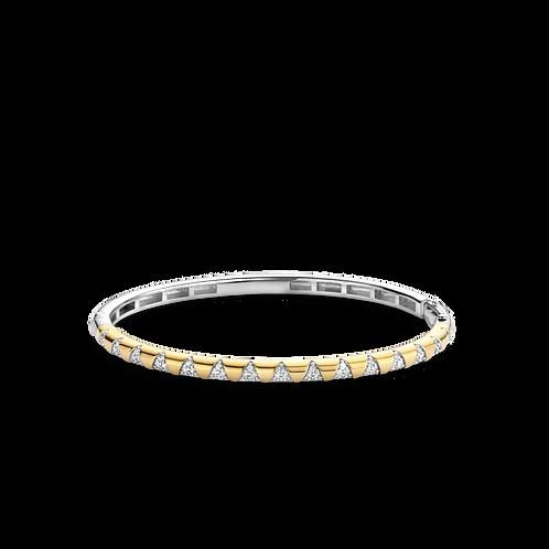 2955ZY Ti Sento zilveren armband geelgoud verguld zirconia