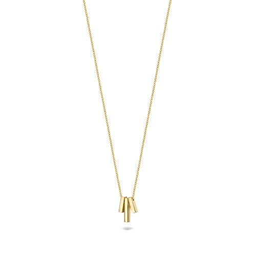 Blush gouden collier met 3 gladde staafjes 3121YGO