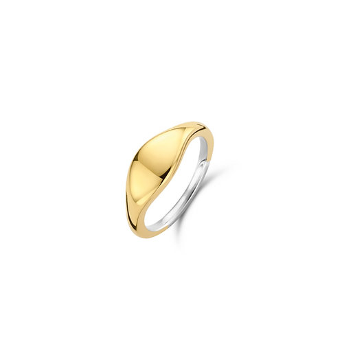12223SY Ti Sento zilveren ring geelgoud verguld