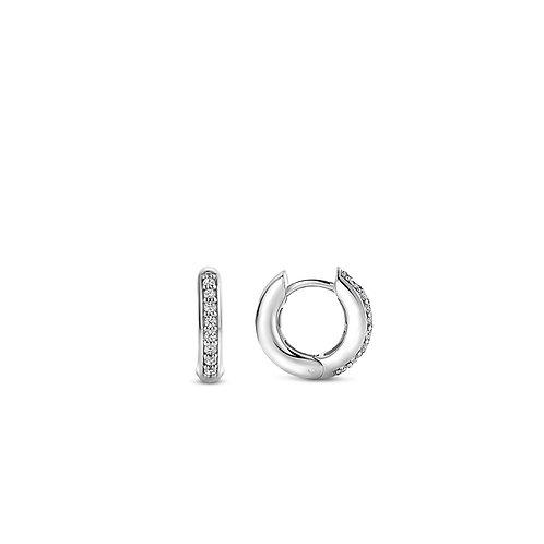 7811ZI Ti Sento zilveren oorringen met zirconia