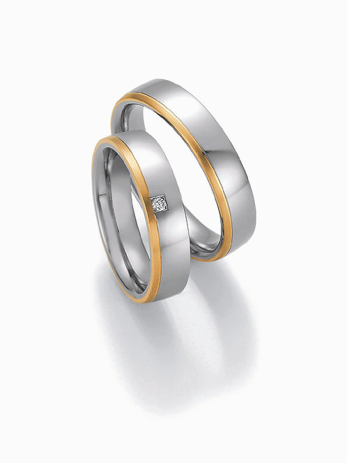 88-01850-01860 Collection Ruesch White Style Steel & Gold Brilliant