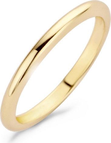 1117YGO Blush ring geelgoud glad