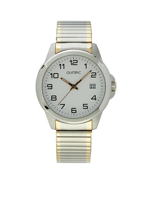 OL26HSS264B Olympic horloge bicolor rekband