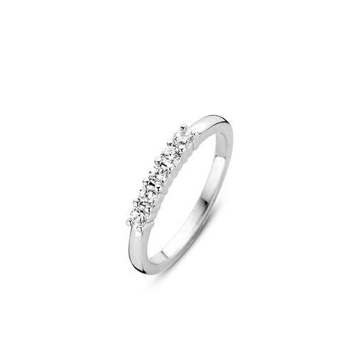 12134ZI Ti Sento zilveren ring met zirconia