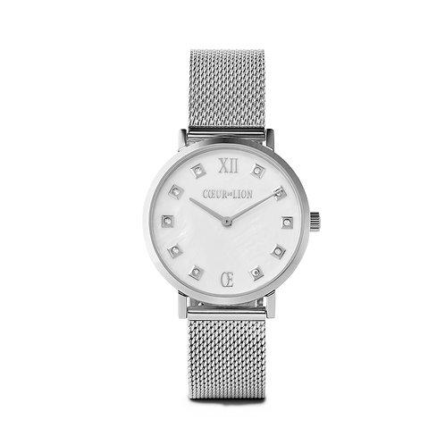 7610-70-1725 Coeur de Lion horloge Silver-Mother of Pearl