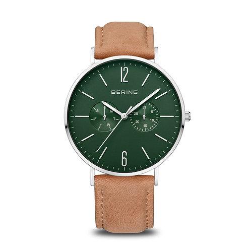 14240-608 Bering Classic herenhorloge groen saffierglas