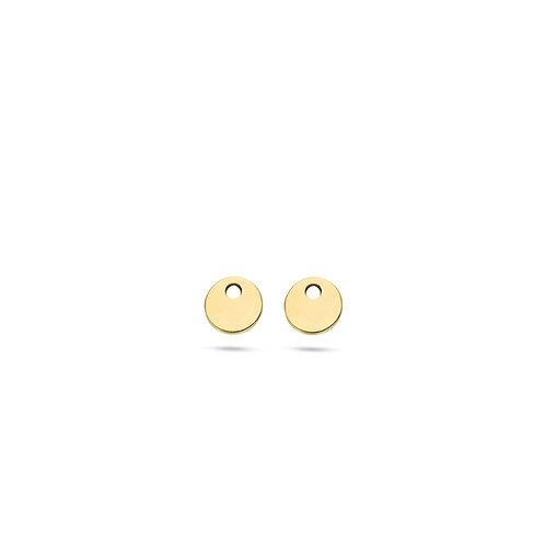 9055YGO Blush oorbedels geelgoud rondje