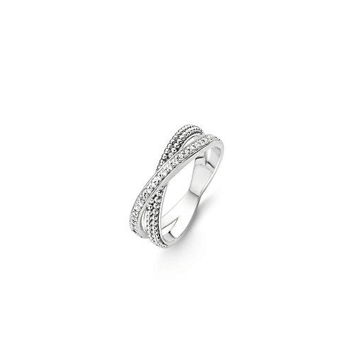 12020ZI Ti Sento zilveren ring met zirconia