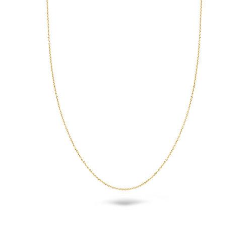 Blush gouden lengte collier 3058YGO/45