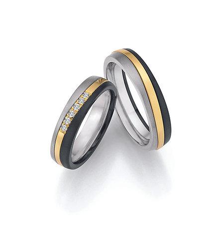 14-20010-1461 Surfing colors trouwringen zirkonium- goud-titanium