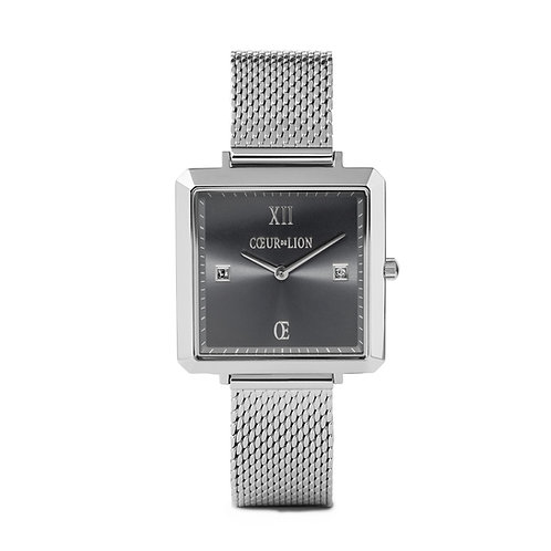 7620-70-1724 Coeur de Lion horloge Silver-Dark Grey