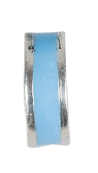 569103 Bellini zilveren stopper emaille blauw