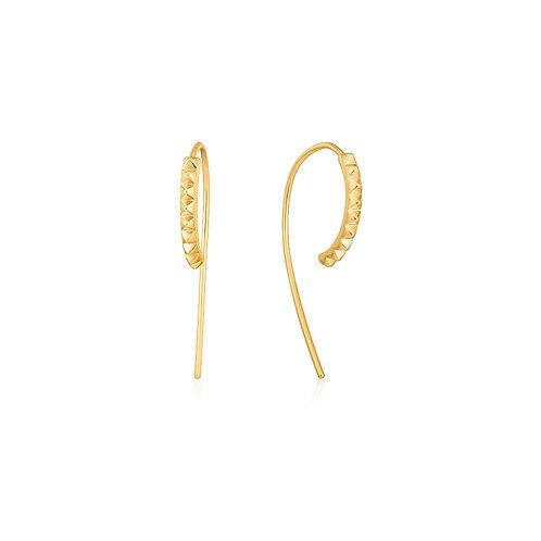 Ania Haie E025-03G Spike solid Drop Earrings M
