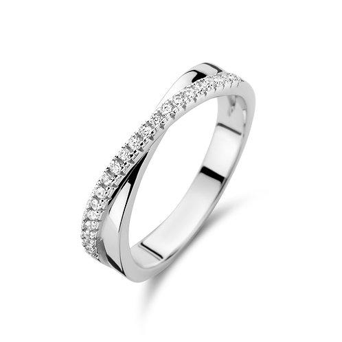 629685 Rosa di Luca zilveren ring zirconia
