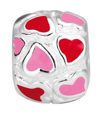 567409 Bellini zilveren bedel emaille hart