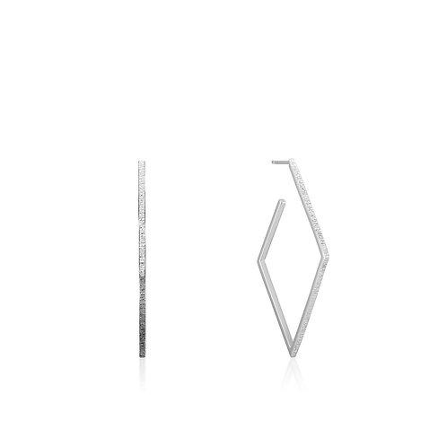 Ania Haie E023-22H Texture Diamond Hoop Earring M