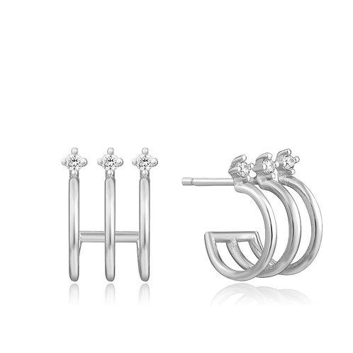 Ania Haie E023-04H Triple Mini Hoop Stud Earrings S