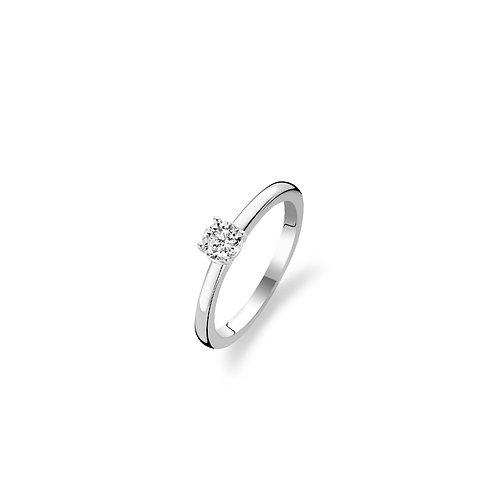 12110ZI Ti Sento zilveren ring met zirconia