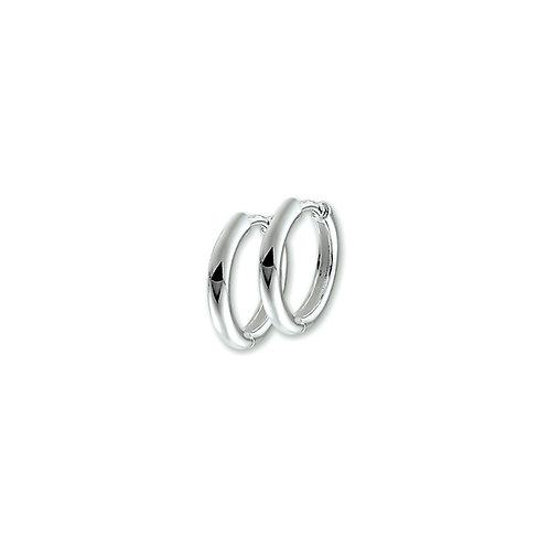 216664 Zilveren klap oorringen 2 mm half rond