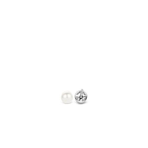 7597ZI Ti Sento zilveren oorstekers met parel