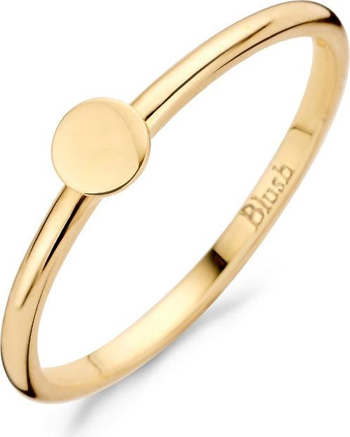 1212YGO Blush ring geelgoud dicht rondje
