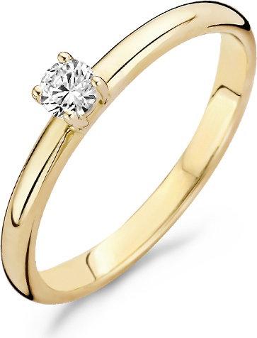 1112YZI Blush ring geelgoud zirconia solitair