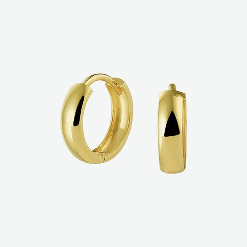 216752 Geelgouden klap oorringen 12x3.2mm