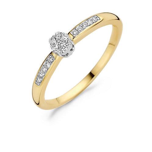 1625BDI Blush ring Diamonds geelgoud 0,12ct