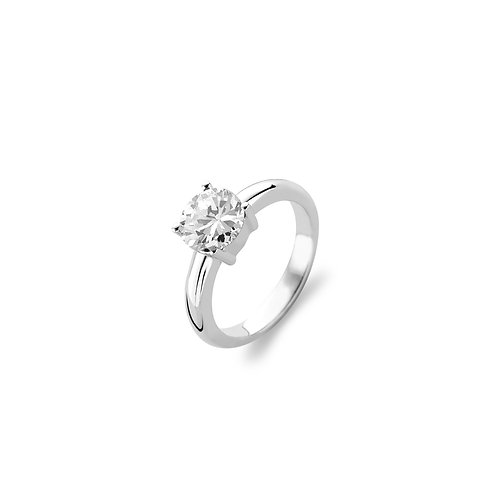 1464ZI Ti Sento zilveren ring zirconia