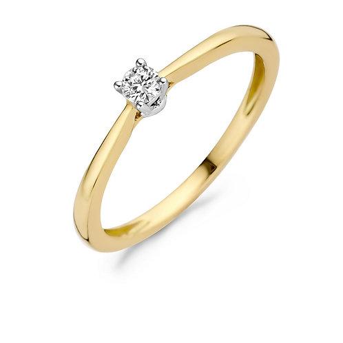 1622BDI Blush ring Diamonds geelgoud 0,10ct