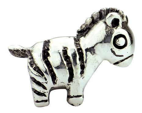 562409 Bellini zilveren bedel zebra