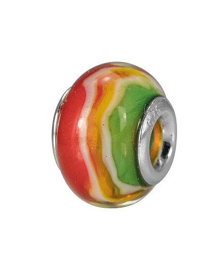 561522 Bellini zilveren bedel glas regenboog