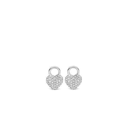 9182ZI Ti Sento zilveren oorbedels met zirconia